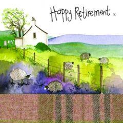 wenskaart alex clark - happy retirement - pensioen
