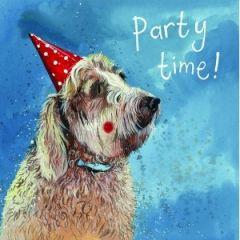 verjaardagskaart alex clark - party time - hond