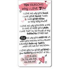 magnetische boekenlegger - ten reasons why I love you