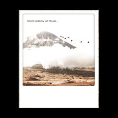 ansichtkaart instagram - collect moments, not things - berg met vogels