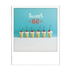 60 jaar - ansichtkaart instagram - sweet 60 6 ijsjes
