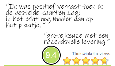 wat klanten zeggen over Muller wenskaarten