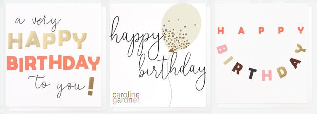 Caroline Gardner Verjaardagskaarten
