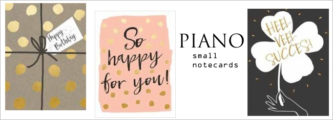 piano small notecards