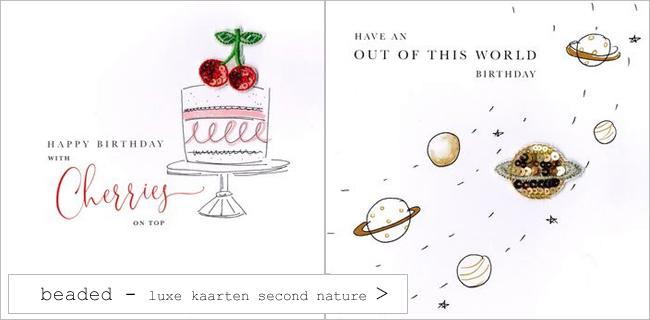 Beaded luxe kaarten van Second Nature