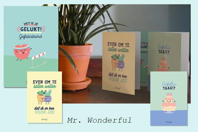 Mr. Wonderful, kaarten voor veel gelegenheden