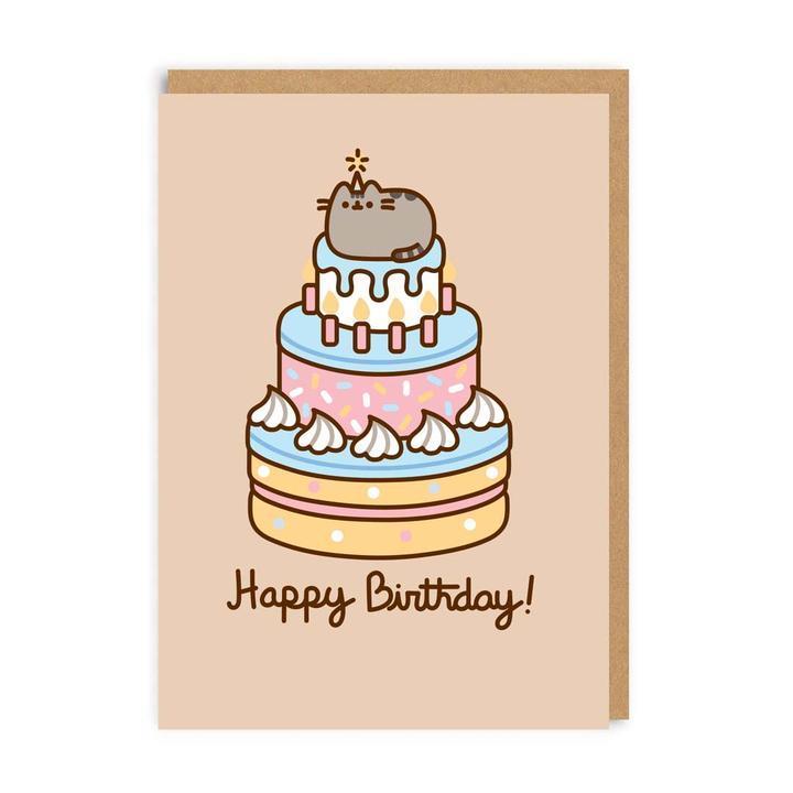 Happy Birthday - Pusheen op taart